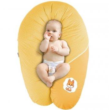 Подушка для беременных и кормления Idea Standart Горох желтый