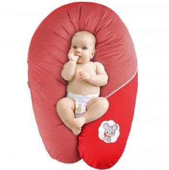 Подушка для беременных и кормления Idea Standart Горох красный