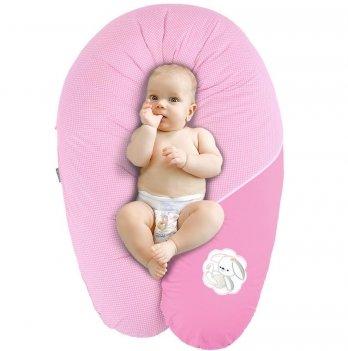 Подушка для беременных и кормления Idea Standart Горох розовый