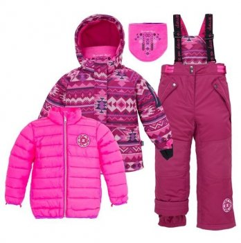 Зимний костюм (куртка и полукомбинезон) Deux par Deux B 303-533
