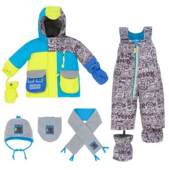 Зимний костюм (куртка и полукомбинезон) Deux par Deux Q 518-00
