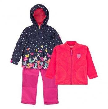 Демисезонный костюм 3 в 1 (куртка, штаны, флисовая кофта + шапка) Deux par Deux W 51-687