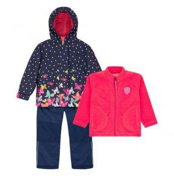 Демисезонный костюм 3 в 1 (куртка, штаны, флисовая кофта + шапка) Deux par Deux W 51-878