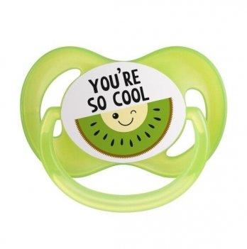 Пустышка силиконовая симметричная Canpol babies So Cool 6-18 мес Зеленый 22/522
