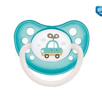 Пустышка силиконовая анатомическая Canpol babies Toys, 6-18 мес, бирюзовая