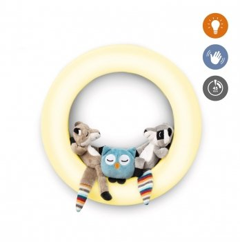 Светильник-ночник настенный Zazu с датчиком на движение и игрушками Fay, Rex и Otis