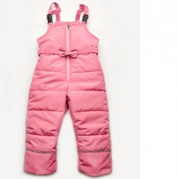 Зимний полукомбинезон для девочки Модный карапуз, розовый