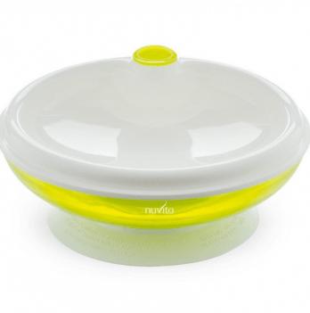 Тарелка малыша Nuvita 6м+, с подогревом, cалатовая