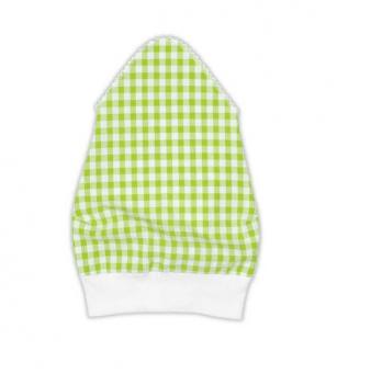 Косынка для девочки Garden baby, салатовая клетка, 43602-35