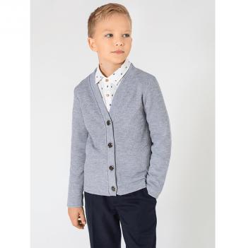 Кардиган для мальчика Модный карапуз, светло-серый