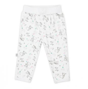 Штанишки для девочки SMIL, возраст от 6 до 18 месяцев, белые с рисунком
