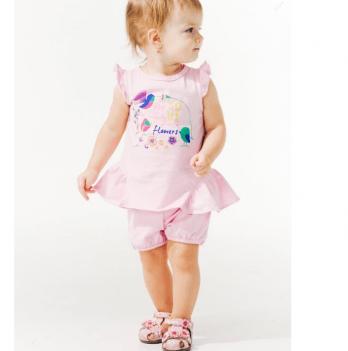 Шорты для девочки Smil от 6 до 18 месяцев розовые