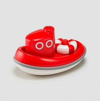 Игрушка для ванной Kid O, Лодочка, красная