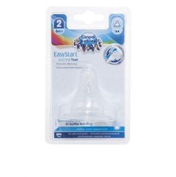 Соска силиконовая для бутылочек с широким отверстием EasyStart Canpol babies поток средний 6+ 21/721