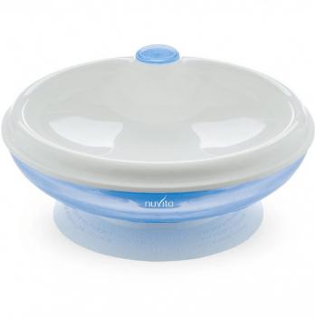 Тарелка малыша Nuvita 6м+, с подогревом, cиняя