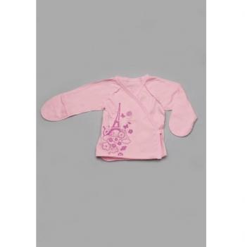 Распашонка детская Модный карапуз, кулир, розовая