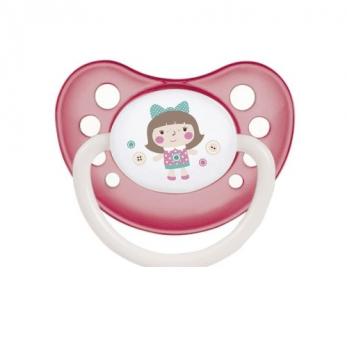 Пустышка силиконовая анатомическая Canpol babies Toys, 6-18 мес, розовая