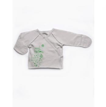Распашонка для новорожденных Модный карапуз, серая