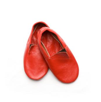 Чешки кожаные детские Модный карапуз, красные