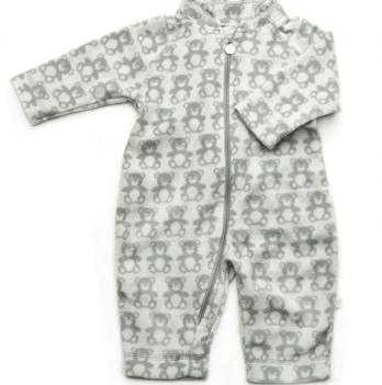 Комбинезон флисовый Модный карапуз, серый