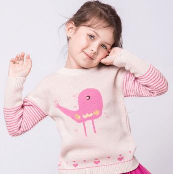 Свитер ТМ Lutik птички розовый