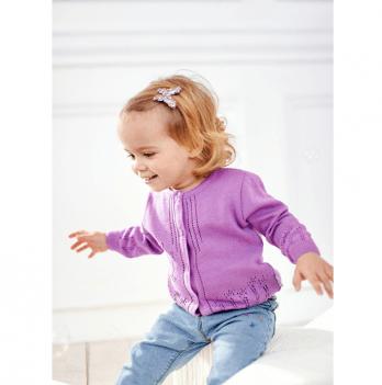 Кофта для девочек ТМ Lutik Собачка, фиолетовая