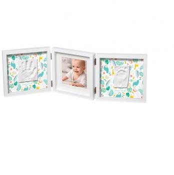Фоторамка с набором для создания отпечатков Baby Art тройная, двухсторонняя