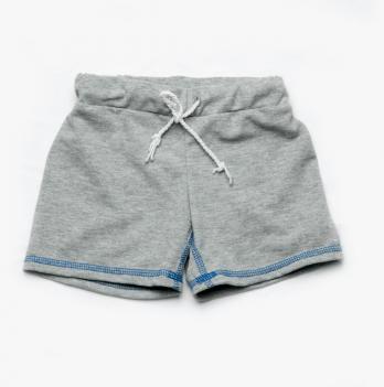 Шорты короткие для мальчиков Модный карапуз, серые