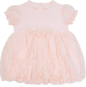 Комплект для девочки, платье и трусики, возраст от 6 до 18 месяцев, розовый персик, SMIL