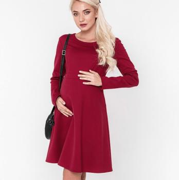 Классическое платье MySecret, для беременных и кормящих, бордо Lianna warm DR-48.161