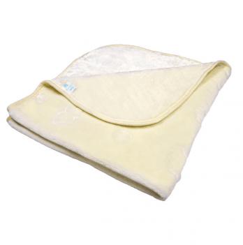 Одеяло детское Golden Spring, однотонное, велюр, 100 х 100см, кремовое
