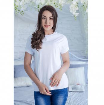 Футболка для будущих и кормящих мам Tariva Cotton 00010 белый