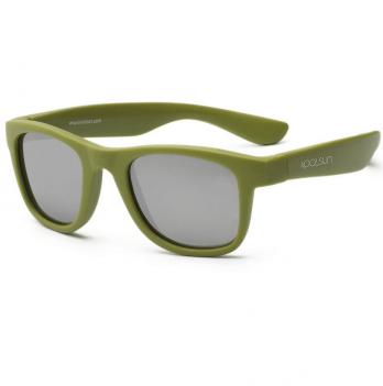 Детские солнцезащитные очки Koolsun серии Wave, размер 1+, цвета хаки