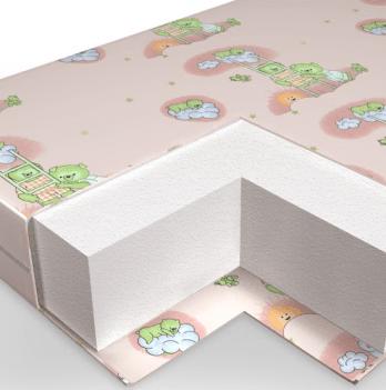 Матрас в детскую кроватку Veres Hollowfiber 60х120 см 50.1.02