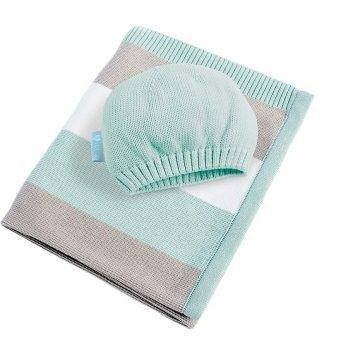 Плед вязаный Малыш и шапочка Idea 8-29909 светло-зеленый 70х90 см