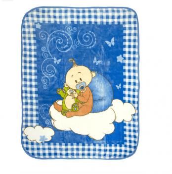 Одеяло детское Golden Spring Малыш, велюр, 100 х 100см, голубое