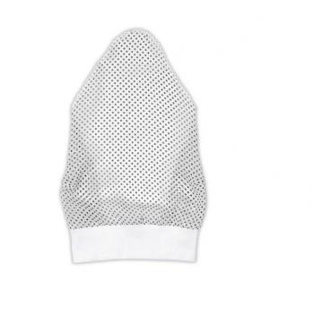 Косынка для девочки Garden baby, белая в черный горох, 43602-35