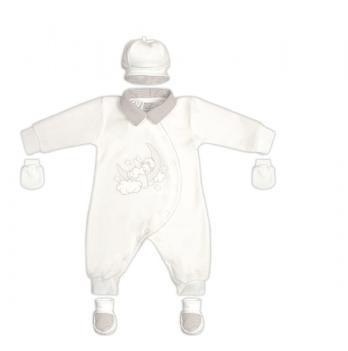 Комплект крестильный для мальчика Garden baby, светло-молочный