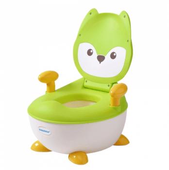 Горшок Babyhood, Лисица, с полиуретановым кольцом, зеленый