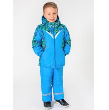 Зимний детский костюм-комбинезон для мальчика Модный карапуз, из мембранной ткани