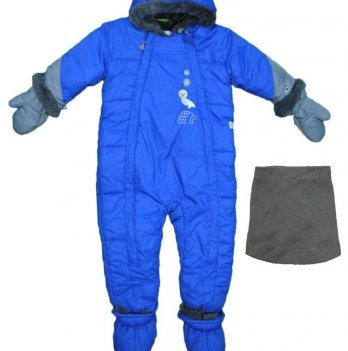 Комбинезон зимний Perlimpinpin, ярко-синий
