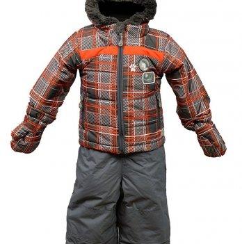 Комплект зимний Perlimpinpin, серый с оранжевым