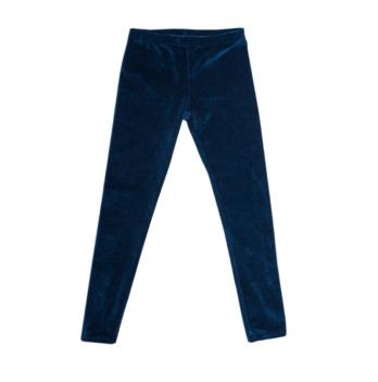 Лосины велюровые для девочки Модный карапуз, 6-9 лет, синие