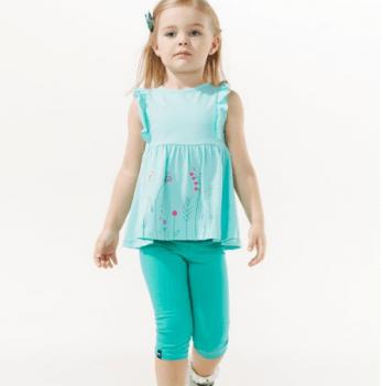 Лосины 3/4 для девочки Smil возраст от 6 до 18 месяцев зеленые