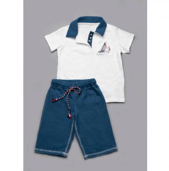 Шорты-бермуды для мальчиков Модный карапуз, синие