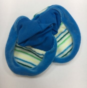 Царапки DANAYA 0-6 мес. 029E голубые в полоску