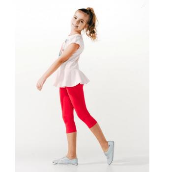 Лосины для девочки Smil возраст от 7 до 10 лет красные