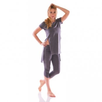 Туника с разрезами Zen Wear Виктория темно-серая