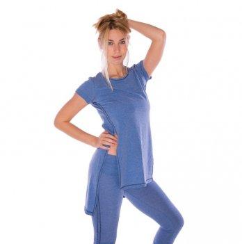 Туника с разрезами Zen Wear Виктория голубая