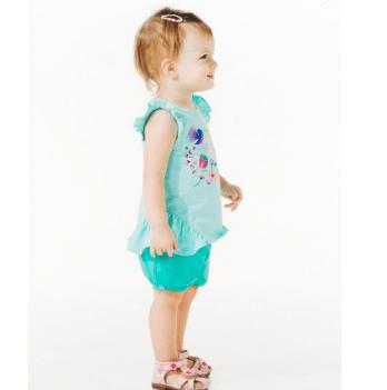 Шорты для девочки Smil от 6 до 18 месяцев зеленые